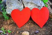 Valentine handmade decor and background — Stock Photo