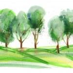 Watercolor Trees — Stock Photo #31762447