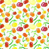 Cherry Seamless Pattern — Stock Photo