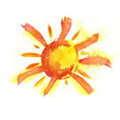 Watercolor Sun — Stock Photo