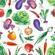 Vegetables Seamless Pattern  — Stock Photo