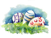 Watercolor Easter Egg — Stock Photo