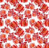 Cajas de regalo de patrones sin fisuras — Foto de Stock