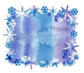 Kar pul ile suluboya arka plan — Stok fotoğraf