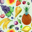 Fruits Seamless Pattern  — Stock Photo