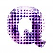 Perforated letter Q — 图库照片