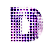 Perforated letter D — Stock Photo
