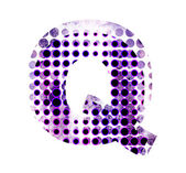 Perforated letter Q — Stock Photo