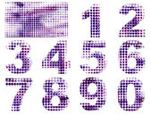 Perforated numbers set — Stock Photo