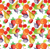Fruits Seamless Pattern — Stock Photo