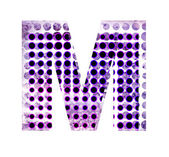 Perforated letter M — Stock Photo