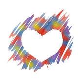 Watercolor Heart — Stock Photo