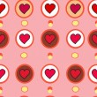 Valentine vector pattern whith hearts — Stock Vector