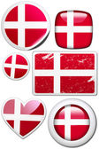 Denmark - Set of stickers and buttons — Stock Photo