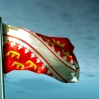 Alsace (France) flag waving on the wind — Stock Photo #41879985