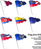Flag pins 15 — Stock fotografie
