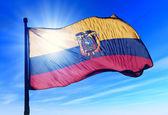 Ekvádorská vlajka — Stock fotografie
