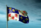 Picardy (France) flag waving on the wind — Stock Photo