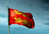 Basse Normandie (France) flag waving on the wind — Stock Photo