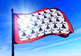 Limousin (France) flag waving on the wind — Stock Photo