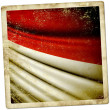 Stock Photo: Flag of Monaco, Indonesia, Hesse (GER)