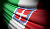 Flag of Kingdom of Italy  — Stock Photo