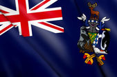 Flag of South Georgia and the South Sandwich Islands (UK) — Stock Photo