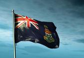 каймановы острова флаг развевается на ветру — Стоковое фото