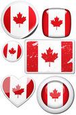 Kanadská vlajka — Stock fotografie