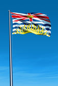 Flag of British Columbia (Canada) — Stock Photo