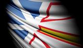 Flag of Newfoundland and Labrador (Canada)  — Stock Photo