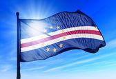 Kaapverdië vlag zwaaien op de wind — Stockfoto