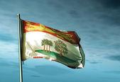 Prince Edward Island (Canada) flag waving on the wind — Stockfoto