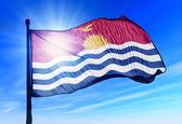 Kiribati flag waving on the wind — Stock Photo