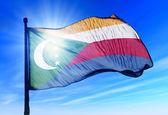 Comoros flag waving on the wind — Stock Photo