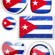 Set of stickers and buttons - cuba — Stock Photo