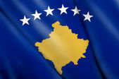 Bandeira do kosovo — Fotografia Stock