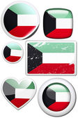 Set of stickers and buttons - Kuwait  — Стоковое фото