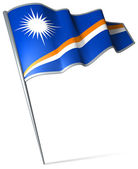 Flag of Marshall Islands  — Stockfoto