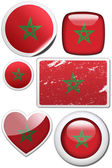 Set of stickers and buttons - Morocco — Stock Photo
