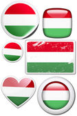 Set of stickers and buttons - Hungary  — Stockfoto