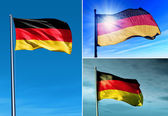 Germany flag waving on the wind — Stock Photo