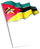 Mozambik cumhuriyeti bayrağı — Stok fotoğraf
