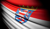 Flag of Hesse (GER) — Stockfoto