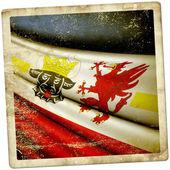 Flag of Mecklenburg-Vorpommern (GER) — Stock fotografie