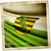 Flag of Saxony (GER)  — Stock Photo