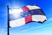 Netherlands Antilles flag waving on the wind — Stock Photo