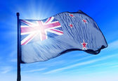 Ross Dependency (NZ) flag waving on the wind — Stock Photo
