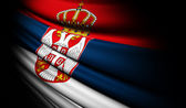 Serbia flag waving on the wind — Stock Photo