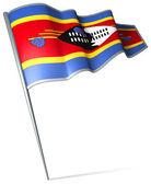 Flaga suazi — Zdjęcie stockowe